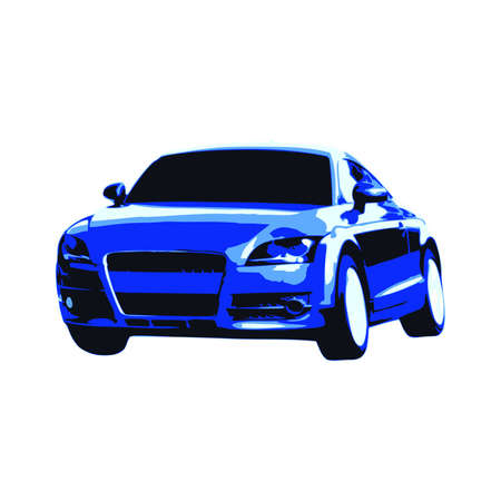 exotic car: Blue Sport Car