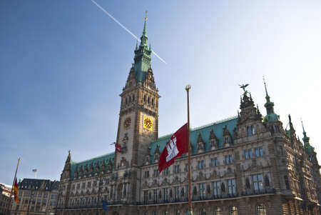 A spectacular site of Hamburg, Germany, Northern Europe Editorial