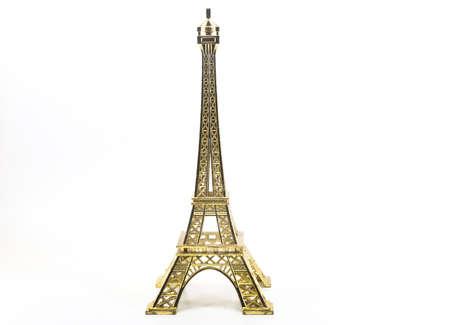 souvenir Eiffel Tower isolated on white background photo