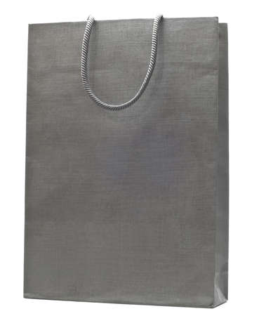 grey shopping bag isolated on white background Stock Photo - 10789367