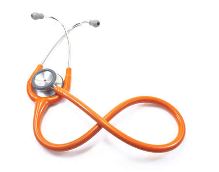 orange Stethoscope,isolated Stock Photo - 10789266