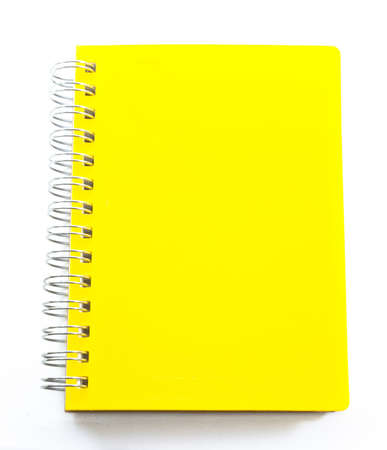 yellow notebook, isolated photo