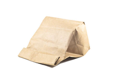 Paper bag on white background,isolated photo