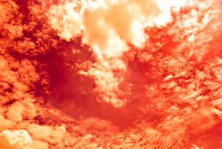 Fiery red Sky photo
