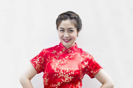 chinese young woman with tradition clothing Stock Photo - 12075469
