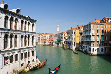 View from Bridge Rialto in Venice, Italy photo