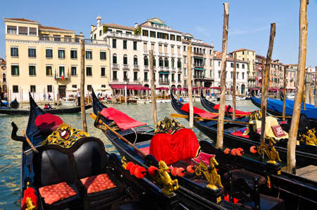 Gondola on Grand canal in Venice, Italy photo