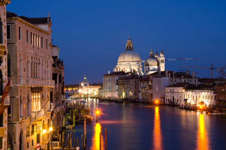 grand palace: Grand Canal and Basilica Santa Maria della Salute, Venice, Italy Stock Photo