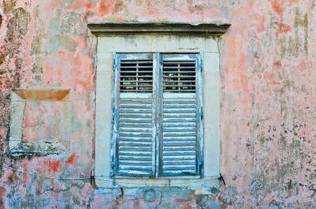 Window in old town at Dubrovnik, Croatia photo