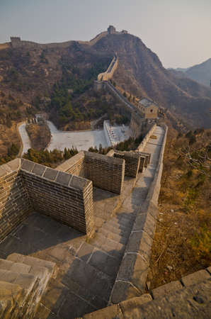 Great Wall of China at Sunny Day.