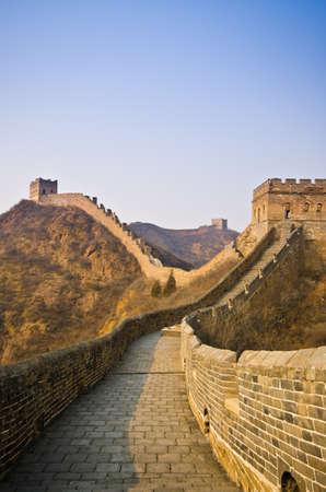 Grande Muraglia cinese a Sunny Day. Archivio Fotografico - 13650963
