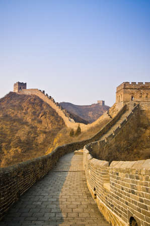simatai: Great Wall of China at Sunny Day.