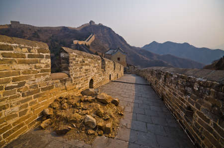 Great Wall of China at Sunny Day. Stock Photo - 13650793