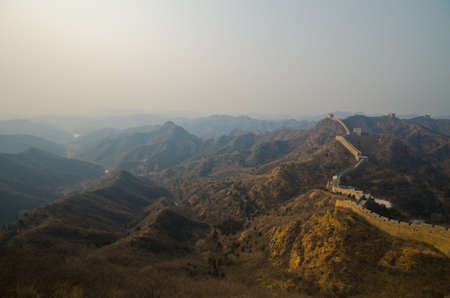 Great Wall of China at Sunny Day. Stock Photo - 13650164