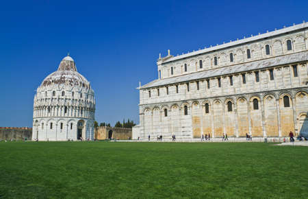 Romanesque style Baptistery Pisa, Italy photo