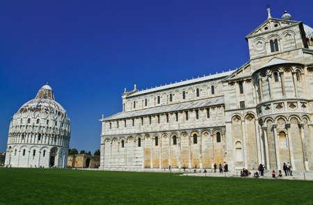romanesque: Romanesque style Baptistery Pisa, Italy Stock Photo