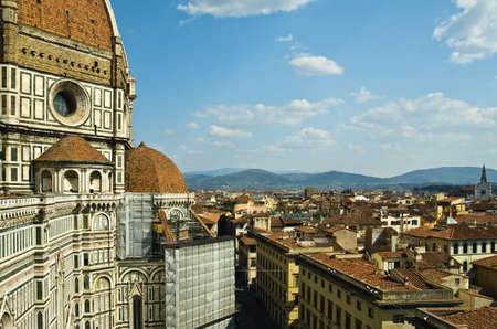 Beautiful renaissance cathedral Santa Maria del Fiore in Florence, Italy photo