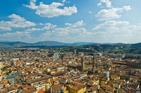 view of red roofs in Florence  Italy