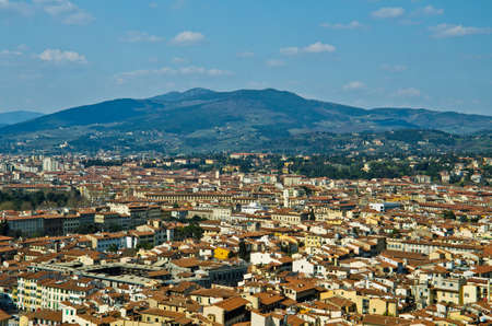 view of red roofs in Florence  Italy photo