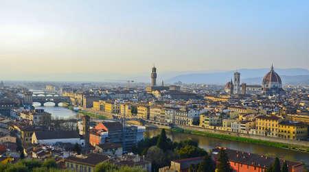 arno: Santa Maria del Fiore and Arno River of Florence, Tuscany, Italy