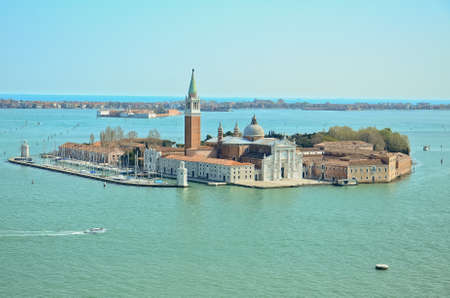 view of San Giorgio island, Venice, Italy photo