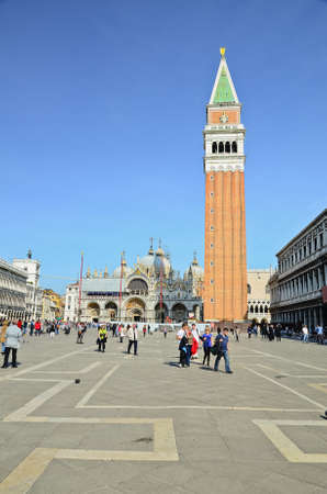 st mark's square: Piazza San Marco at dusk, Venice, Italy