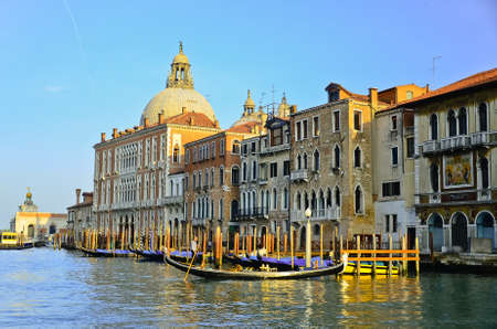 Grand Canal in Venice, Italy. Evening light