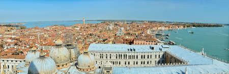 Aerial panoramic view of venice city, Italy