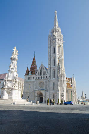 shot of the Matthias Church, Budapest, Hungary