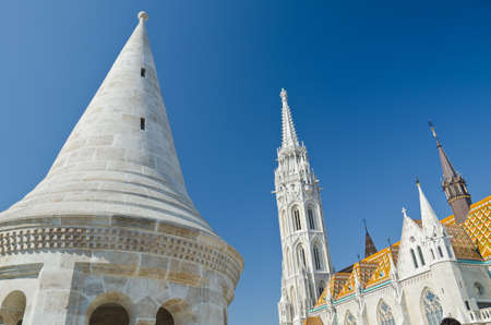 schulek: shot of the Matthias Church, Budapest, Hungary Stock Photo