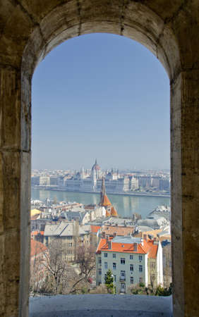 Europe, Hungary, Budapest, Cityscape with Parliament photo