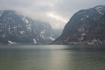 Hallstatt in the winter, Austria photo