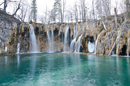 Waterfall in Plitvice Lakes national park, Croatia photo