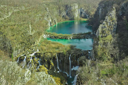 Breathtaking view in the Plitvice Lakes National Park (Croatia) photo