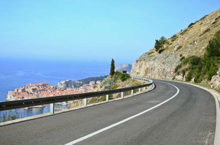 motorway of Dubrovnik croatia Stock Photo