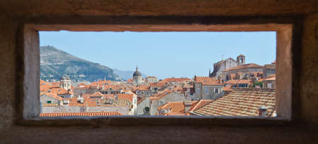 Croatian Dubrovnik with natural frame photo