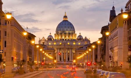 Front View of Saint Peter's Basilica,Vatican Stock Photo - 15281619