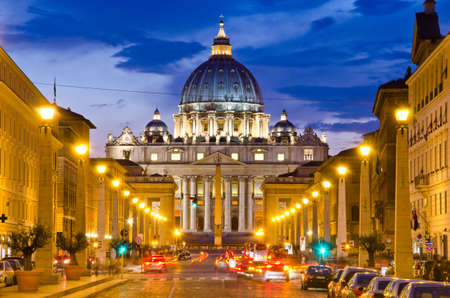 Front View of Saint Peter's Basilica,Vatican Stock Photo - 15276069