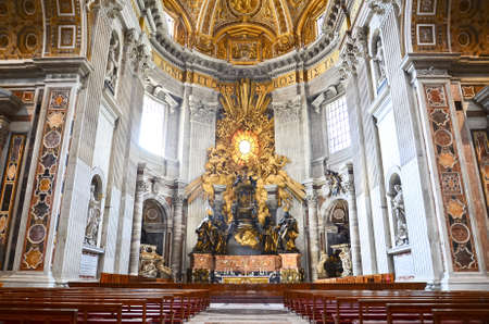 Saint Peter's basilica interior in Vatican City