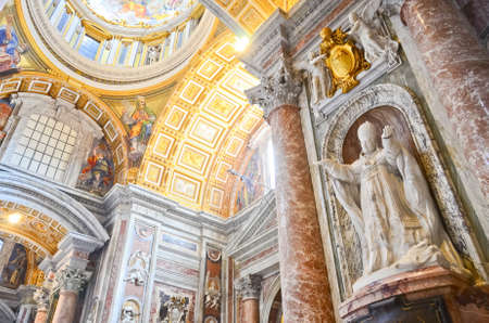 celling: St. Peters Basilica, St. Peters Square, Vatican City. Indoor interior