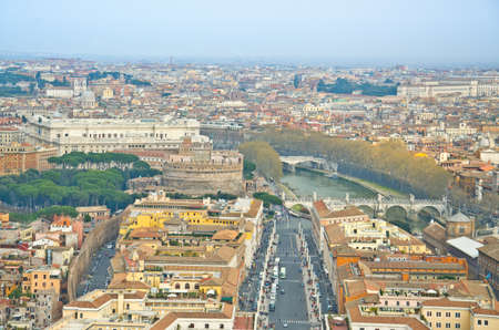 Aerial view of Vatican city, as seen from the top of the Vatican photo