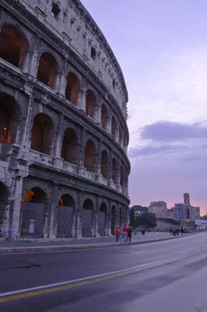 The Colosseum, place of bloody hand-to-hand fight of the Roman gladiators  Rome, Italy  Stock Photo - 15675691