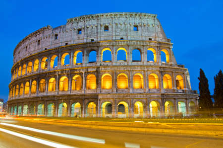 closeup of Colosseum at Dusk, Rome Italy Imagens - 15653571