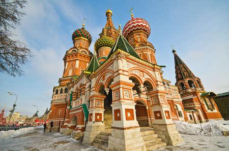 cath�drale: Cath�drale Saint-Basile, � la Place Rouge, Moscou, Russie