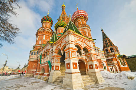 lustre: Saint Basils Cathedral, at Red Square, Moscow, Russia Stock Photo