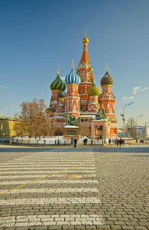minin: Saint Basils Cathedral, at Red Square, Moscow, Russia Stock Photo
