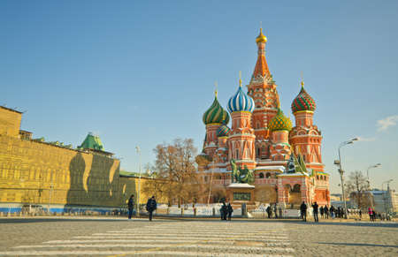 moscow churches: Saint Basils Cathedral, at Red Square, Moscow, Russia Stock Photo