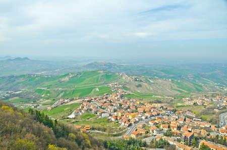 sammarinese: reppublic San Marino vista dall'alto