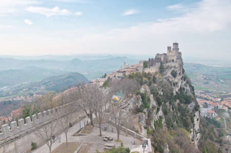 Castle of San Marino on the hill