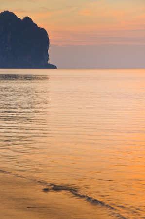 aonang: Sunrise with sea and islands at Aonang, Krabi, Thailand